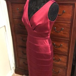 Calvin Klein Maroon Satin Dress. Size 6